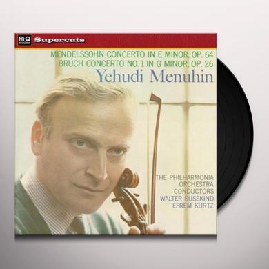 Yehudi / Menuhin / Philharmonia Orchestra MENDELSSOHN & BRUCH VIOLIN CONCERTOS Vinyl Record - 180 Gram Pressing