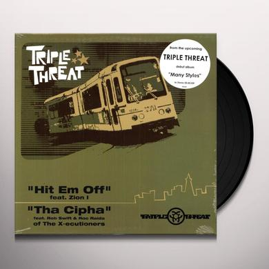 Triple Threat HIT EM OFF Vinyl Record