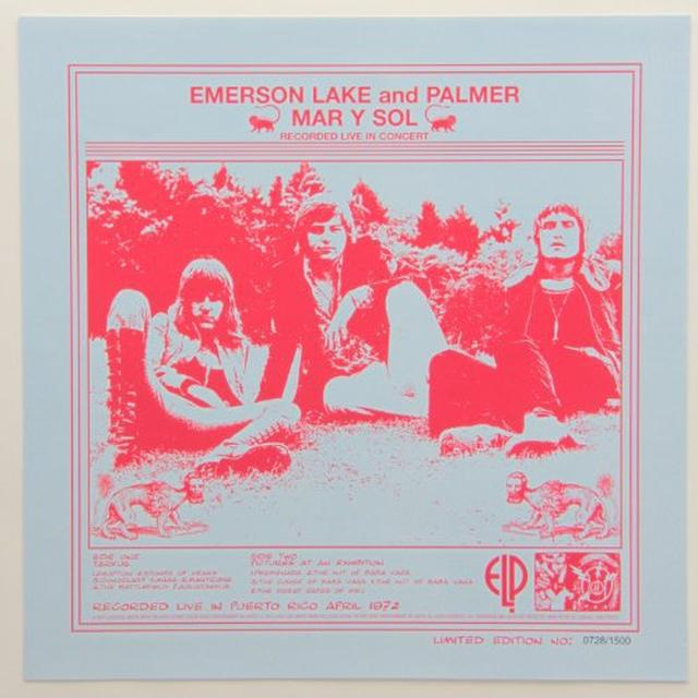 Emerson, Lake & Palmer MAR Y SOL Vinyl Record - Limited Edition