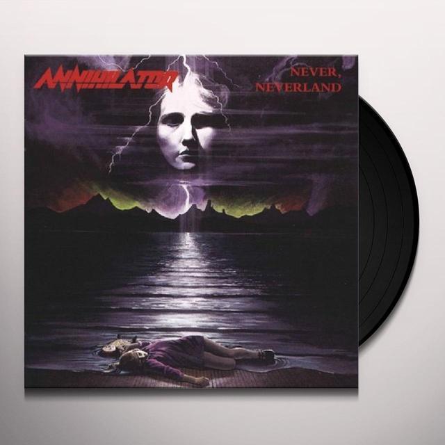 Annihilator NEVER, NEVERLAND (BONUS TRACKS) Vinyl Record - 180 Gram Pressing, Reissue
