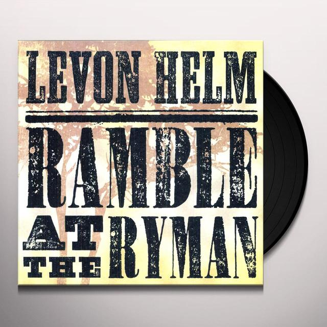 Levon Helm RAMBLE AT THE RYMAN Vinyl Record