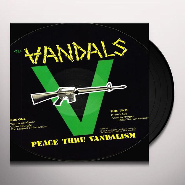 The Vandals  PEACE THRU VANDALISM Vinyl Record - Picture Disc