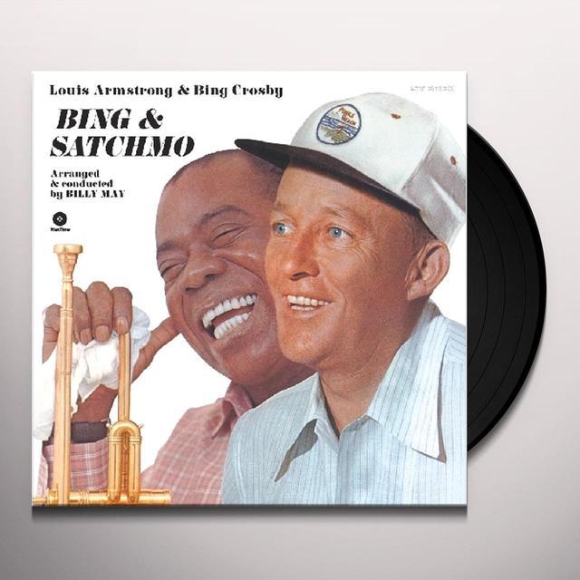 Louis Armstrong & Bing Crosby BING & SATCHMO (BONUS TRACK) Vinyl Record - 180 Gram Pressing