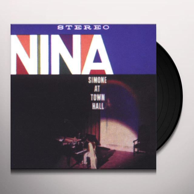 Nina Simone AT TOWN HALL (BONUS TRACK) Vinyl Record - 180 Gram Pressing