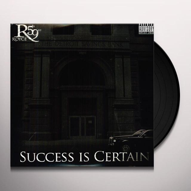 "Royce Da 5'9"" SUCCESS IS CERTAIN Vinyl Record"