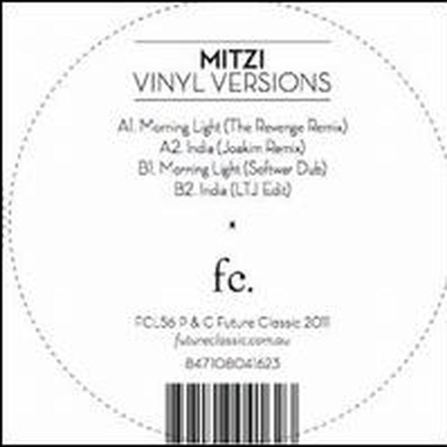 Mitzi VINYL VERSIONS (EP) Vinyl Record
