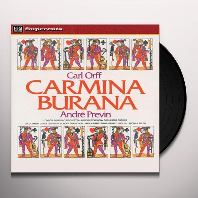 Orff / Lso / Previn CARMINA BURANA Vinyl Record - 180 Gram Pressing