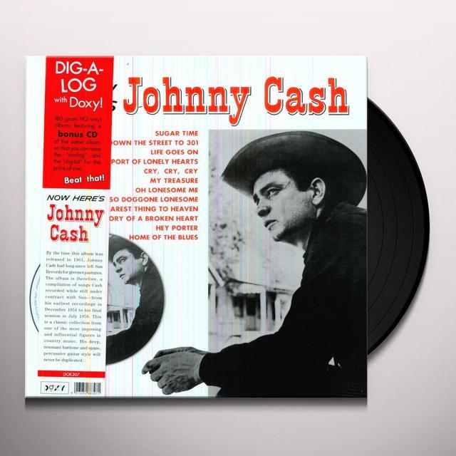 NOW HERE'S JOHNNY CASH Vinyl Record - w/CD, 180 Gram Pressing, Reissue
