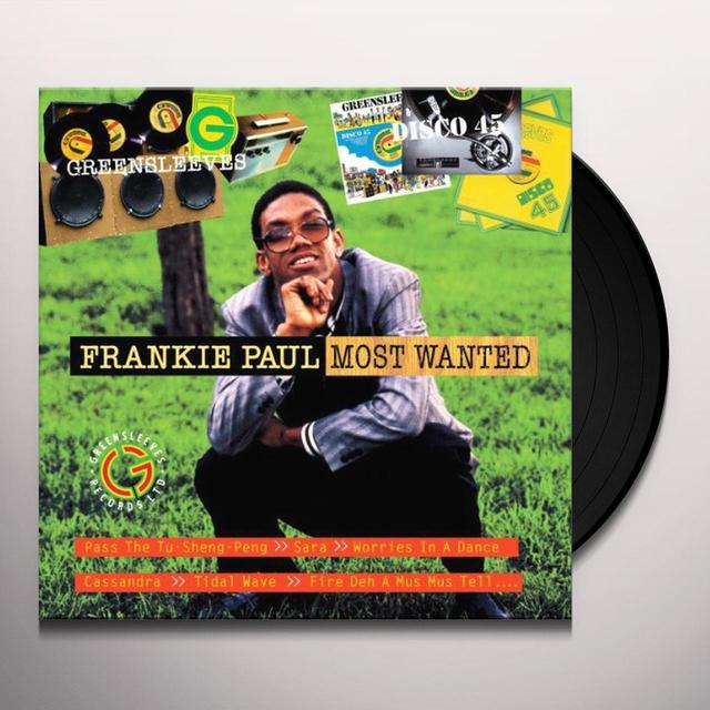 Frankie Paul MOST WANTED Vinyl Record