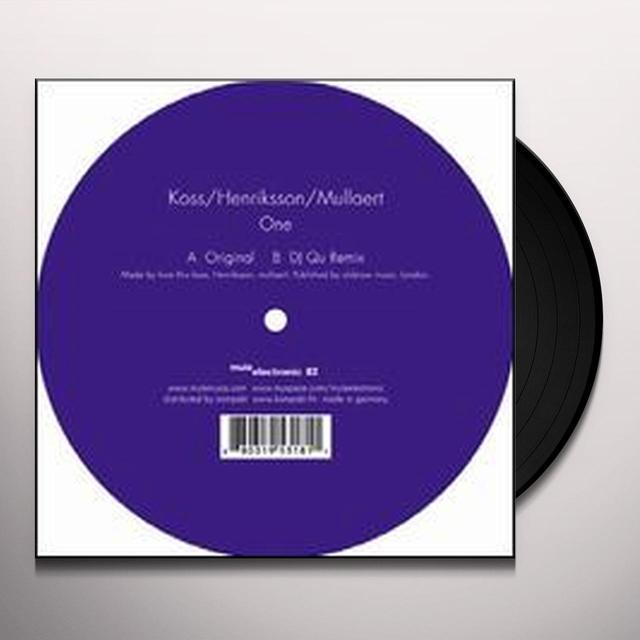 Koss / Henriksson / Mullaert ONE (EP) Vinyl Record