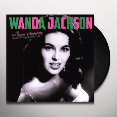 Wanda Jackson QUEEN OF ROCKABILLY: SALUTE KING OF ROCK N ROLL Vinyl Record