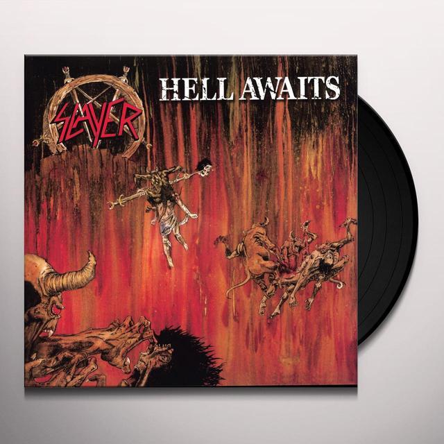 Slayer HELL AWAITS Vinyl Record - UK Import