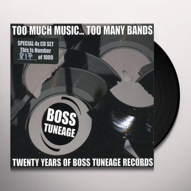 TOO MUCH MUSIC TOO MANY BANDS: 20 YEARS OF BOSS Vinyl Record