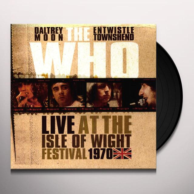 Who LIVE AT THE ISLE OF WIGHT Vinyl Record - Limited Edition, 180 Gram Pressing