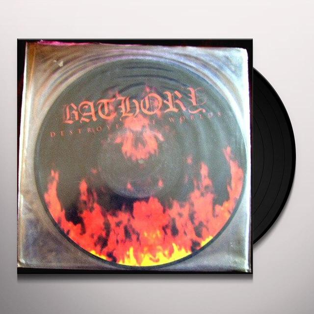 Bathory DESTROYER OF WORLDS Vinyl Record