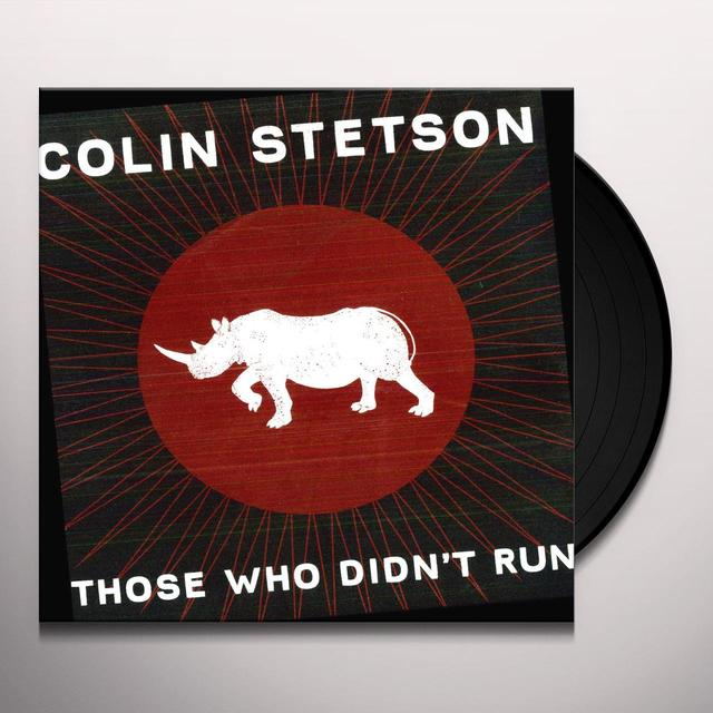 Colin Stetson THOSE WHO DIDN'T RUN  (EP) Vinyl Record - 10 Inch Single