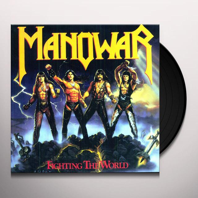 Manowar FIGHTING THE WORLD Vinyl Record