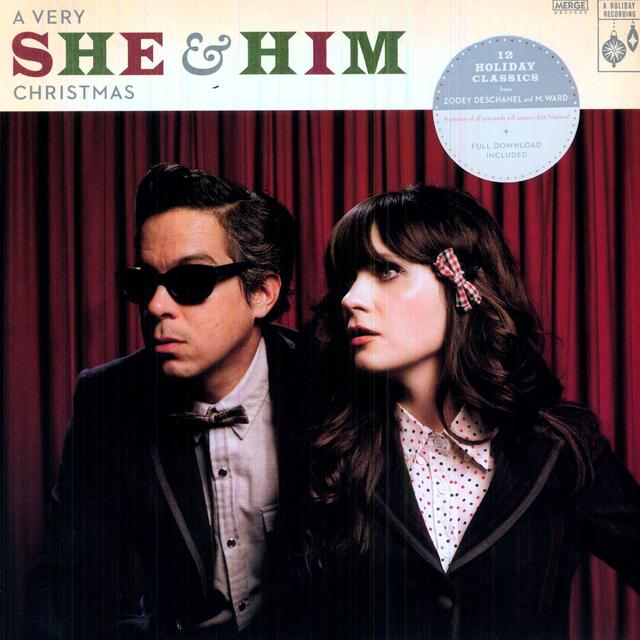 VERY SHE & HIM CHRISTMAS Vinyl Record - Digital Download Included