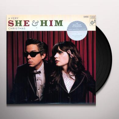 VERY SHE & HIM CHRISTMAS Vinyl Record