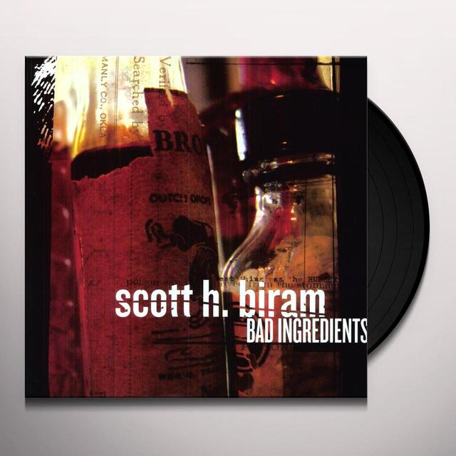 Scott H Biram BAD INGREDIENTS Vinyl Record - Digital Download Included, Limited Edition