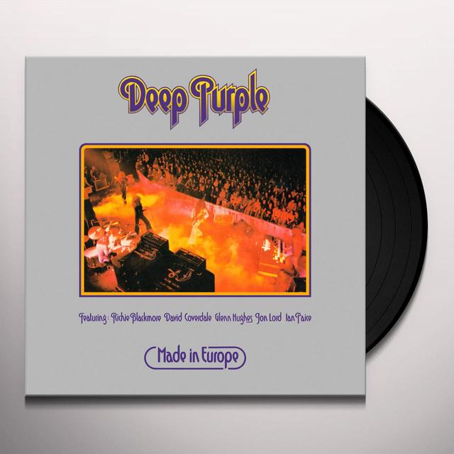 Deep Purple MADE IN EUROPE Vinyl Record - Limited Edition, 180 Gram Pressing