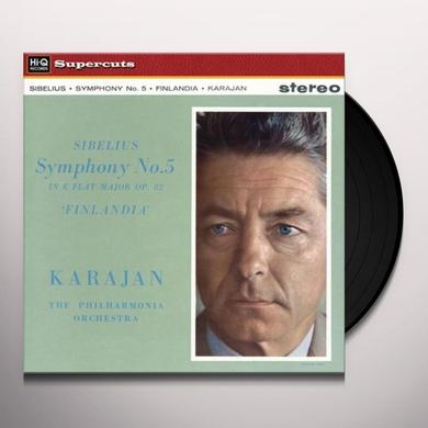 Herbert Von / Philharmonia Orchestra Karajan SIBELIUS SYMPHONY 5 & FINLANDIA Vinyl Record
