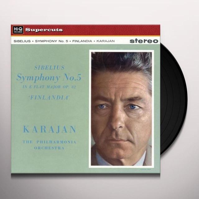 Herbert Von / Philharmonia Orchestra Karajan SIBELIUS SYMPHONY 5 & FINLANDIA Vinyl Record - 180 Gram Pressing