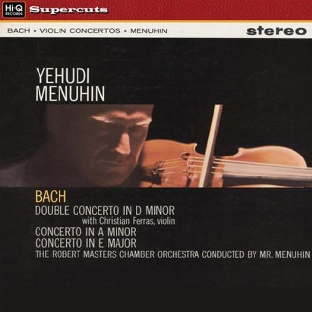 Yehudi Menuhin BACH CONCERTOS Vinyl Record - 180 Gram Pressing