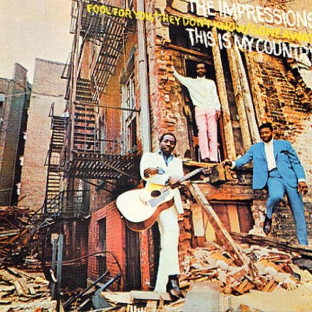 The Impressions THIS IS MY COUNTRY Vinyl Record