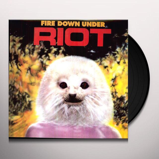 Riot FIRE DOWN UNDER Vinyl Record