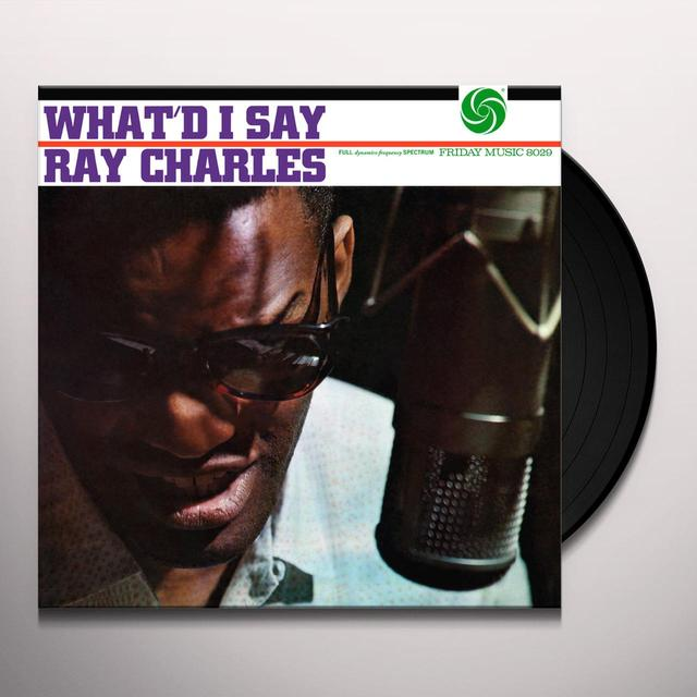 Ray Charles WHAT'D I SAY Vinyl Record - Limited Edition, 180 Gram Pressing