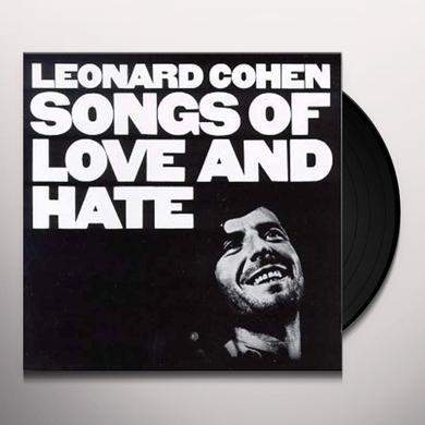 Leonard Cohen SONGS OF LOVE & HATE Vinyl Record - 180 Gram Pressing