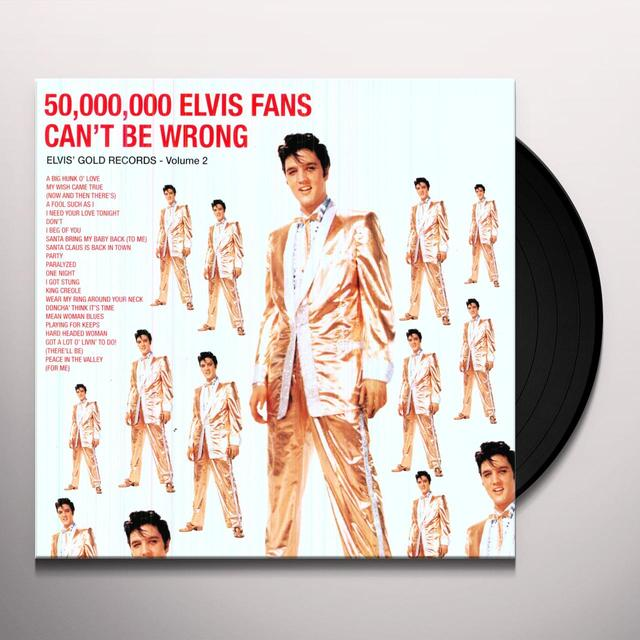 50 MILLION ELVIS FANS CAN'T BE WRONG Vinyl Record - 180 Gram Pressing