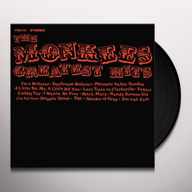 The Monkees GREATEST HITS Vinyl Record