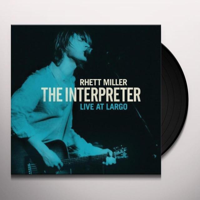 Rhett Miller INTERPRETER LIVE AT LARGO Vinyl Record