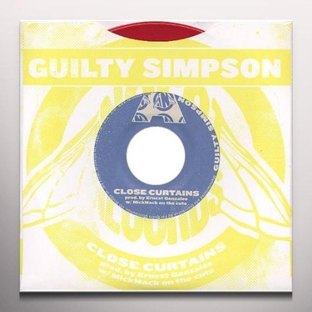 Guilty Simpson CLOSE CURTAINS / UNBELIEVABLE Vinyl Record - Colored Vinyl