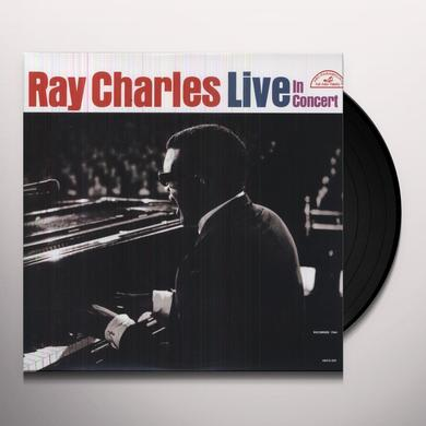 Ray Charles LIVE IN CONCERT Vinyl Record