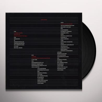 Luigi Nono CARLO SCARPA Vinyl Record