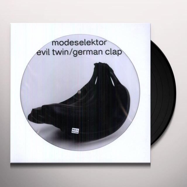 Modeselektor EVIL TWIN / GERMAN CLAP (EP) Vinyl Record - Picture Disc