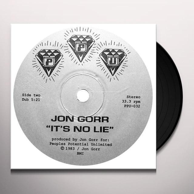 Jon Gorr IT'S NO LIE Vinyl Record
