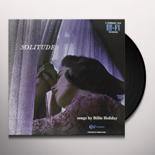 Billie Holiday SOLITUDE Vinyl Record - 180 Gram Pressing