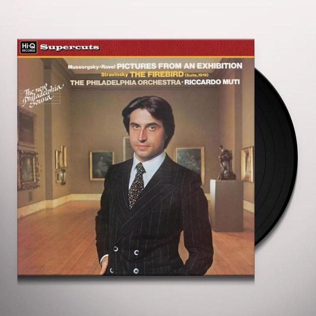 Riccardo / Philadelphia Orch PICTURES FROM AN EXHIBITION & THE FIREBIRD Vinyl Record - 180 Gram Pressing