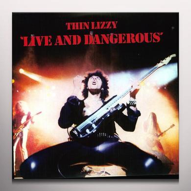 Thin Lizzy LIVE & DANGEROUS Vinyl Record - Clear Vinyl, 180 Gram Pressing
