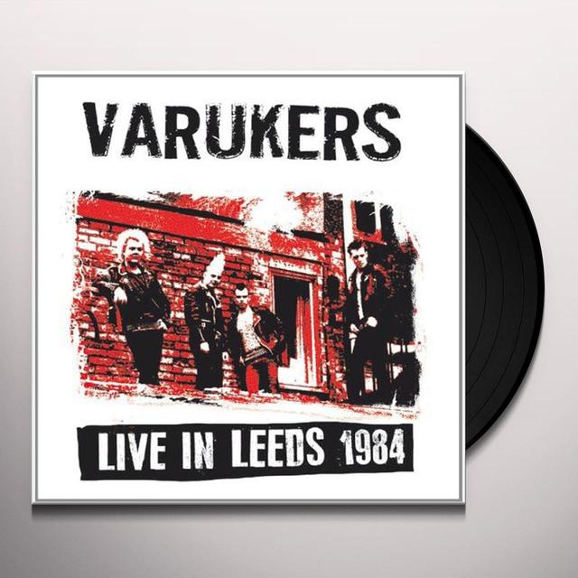 The Varukers LIVE IN LEEDS 1984 Vinyl Record