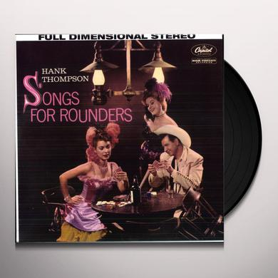 Hank Thompson SONGS FOR ROUNDERS Vinyl Record - Remastered