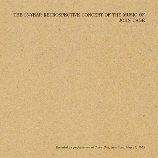 John Cage 25 YEAR RETROSPECTIVE Vinyl Record