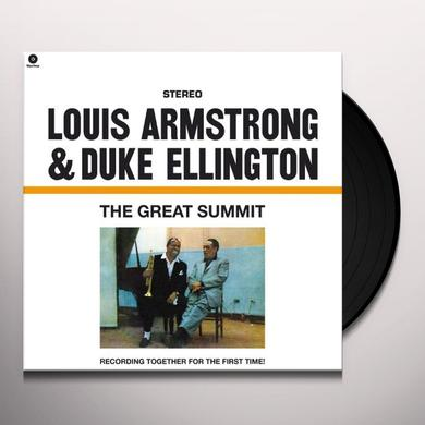 Louis Armstrong & Duke Ellington GREAT SUMMIT (BONUS TRACK) Vinyl Record - 180 Gram Pressing