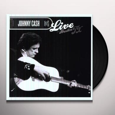 Johnny Cash LIVE FROM AUSTIN TX Vinyl Record