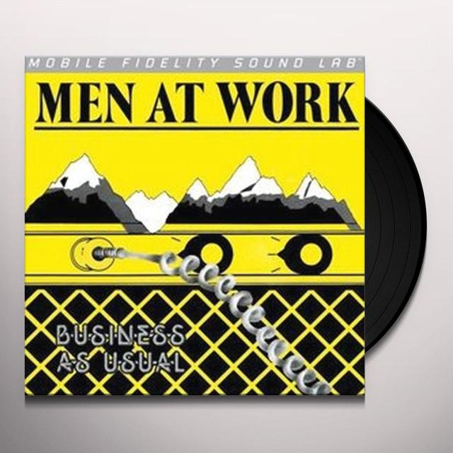 Men At Work BUSINESS AS USUAL Vinyl Record - Limited Edition