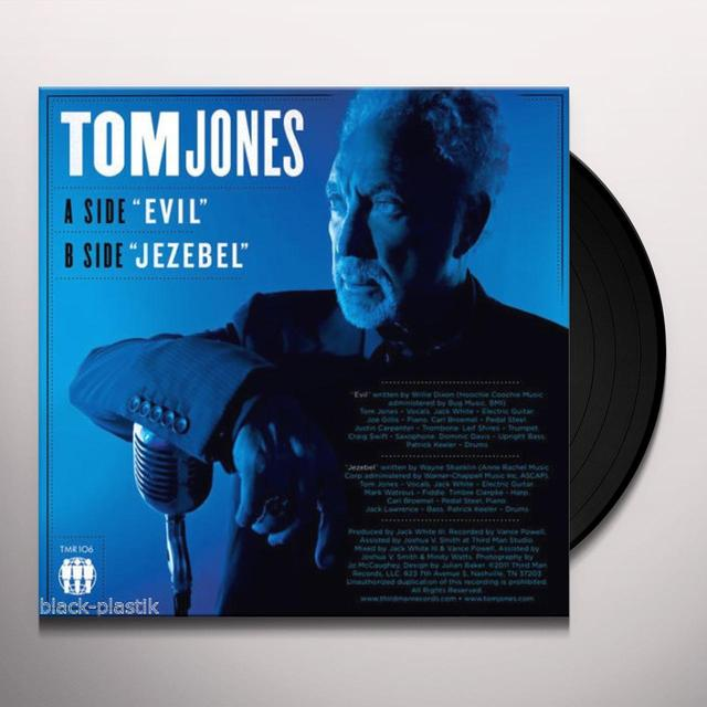 Tom Jones EVIL / JEZEBEL Vinyl Record